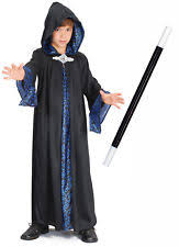boys wizard robe costume for magician merlin fancy dress outfit to