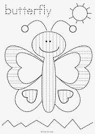 butterfly pre writing tracing worksheet freebie tracing