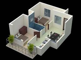 2bhk with porch 3d home ideas bhk house planof samples drawing