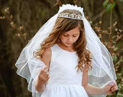 communion headpiece communion tiara veil etsy