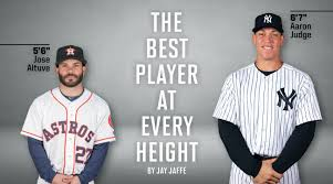Aaron Judge Yankees Slugger Becomes Tallest Center Fielder - jose altuve aaron judge and the best players at every inch si com