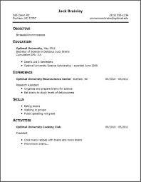 sle resume format in word summer internship resume exles college simple student format