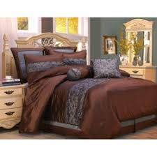 Blue And Brown Bedroom Set Bella Floral Queen Size 4 Piece Comforter Set Free Shipping