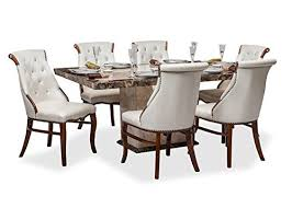 six seater dining table durian siberian dinning set six seater dining table set cream at