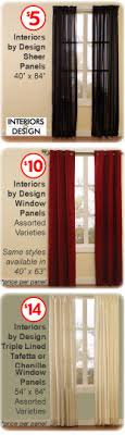 Interiors By Design Curtains Family Dollar