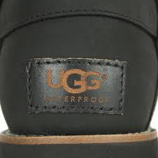 ugg noira buckle calf boots lyst ugg noira black leather flat calf boot in black