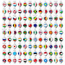 World Map With Flags World Map With Flags Of Countries Royalty Free Vector Clip Art