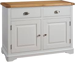 lowa painted grey u0026 oak country style sideboard