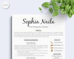 simple creative resumes resume design etsy