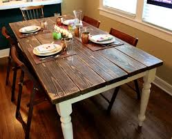 Homemade Dining Room Table Furniture Amusing Farmhouse Dining Room Table Plans Large Diy