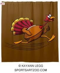 thanksgiving turkey football run sweatshirt by sportsartzoo