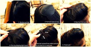 hair puff accessories step by step pictorial tutorials of different style puff hairstyle