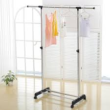 wardrobe racks astounding clothes hanger bar wall mount clothes