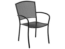 Rod Iron Dining Chairs Woodard Albion Wrought Iron Dining Chair In Textured Black 7r0021 92