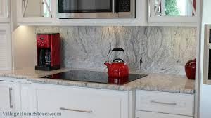 kitchen backsplash height height silver cloud granite backsplash in a remodeled