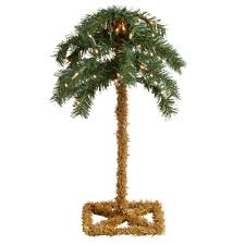 18 u201d artificial lighted tabletop palm tree christmas tree shops