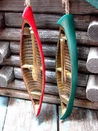 moose r us green detailed resin canoe paddles ornament