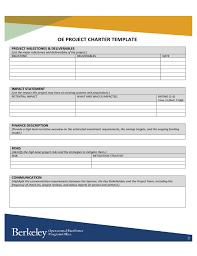 oe project charter template university of california berkeley