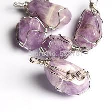 natural amethyst necklace images Natural amethyst necklace wire wrapped amethyst pendant natural jpg