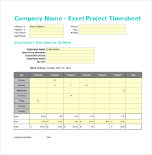 Daily Timesheet Template Excel Sle Project Timesheet Project Timesheet Template