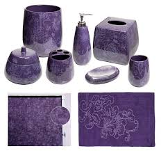 Purple Bathroom Rugs Botanica Purple Bathroom Accessories Deluxe Set
