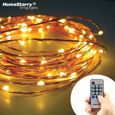 Starry String Lights On Copper Wire by Homestarry Starry String Lights With 120 Warm White Led U0027s On