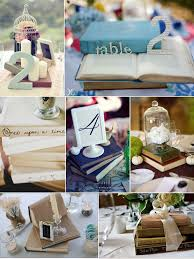 non floral wedding centerpieces painted books floral