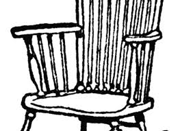 black and white rocking chair clipart cliparts and others art