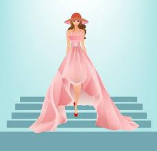 dress fashion design colored cartoon sketch vector cartoon free