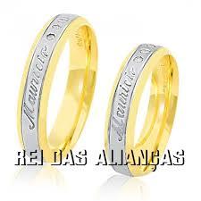 rei das aliancas alianças de ouro casamento noivado cód 737 rei das alianças