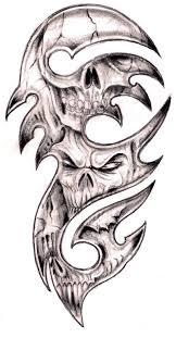 tribal and skull designs fantastic