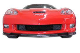 carbon fiber corvette c6 corvette zr1 style carbon fiber front splitter fits gs zo6 zr1