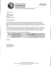 Examples Of Letters Of Recommendation For Teachers Free Home Inspector Training Courses U0026 Online Classes Internachi