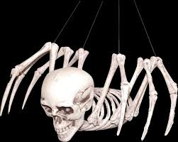 mutant hybrid skeleton spider human skull horror monster prop