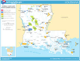 Map Of New Orleans Louisiana Map Of Louisiana Map Federal Lands And Indian Reservations