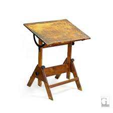 Wooden Drafting Table Vintage Adjustable Wood Drafting Table 31 U2033w X 25 U2033d X 38 U2033h As