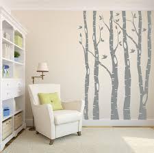 beautiful birch wall decal decorative birch wall decal ideas image of elegant birch wall decal