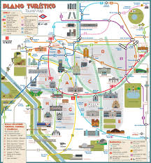Barcelona Metro Map by Madrid Metro Map With Sightseeings