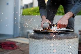 How To Make A Gas Fire Pit by How To Turn An Old Washing Machine Drum Into A Fire Pit Digital
