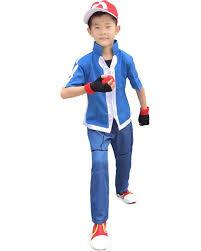 amazon com miccostumes boy u0027s pokemon xy ash ketchum cosplay