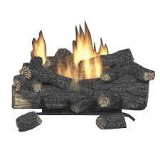 Fireplace Gas Log Sets by Emberglow Savannah Oak 24 In Vent Free Natural Gas Fireplace Logs
