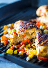 cheese and pepper stuffed grilled chicken gimme delicious