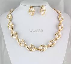 new gold set wholesale new gold wedding bridal pearl rhinestone