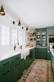 colored cabinets for kitchen 75 beautiful kitchen with green cabinets pictures ideas