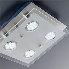 applique soffitto plafonnier led moderne en verre partiellement satin礬 i 4 oules