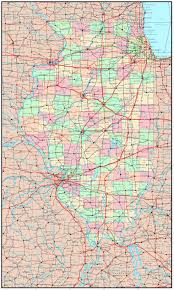 Illinois Cities Map by Large Detailed Administrative Map Of Illinois State With Roads
