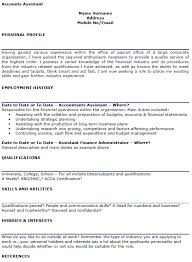 Accounting Assistant Job Description For Resume by Accounts Assistant Cv Example Lettercv Com