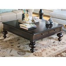 square industrial coffee table home for you dark wood thick thippo