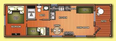 Cabin Floor by Cabins Floor Plans Santee Lakes