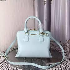 bag with light inside latest miu miu madras goat leather top handle bag light blue